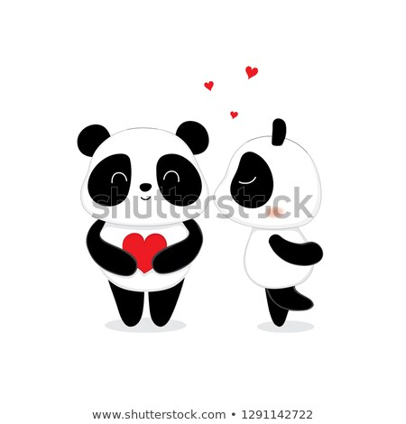 panda couple Stock photo © adrenalina