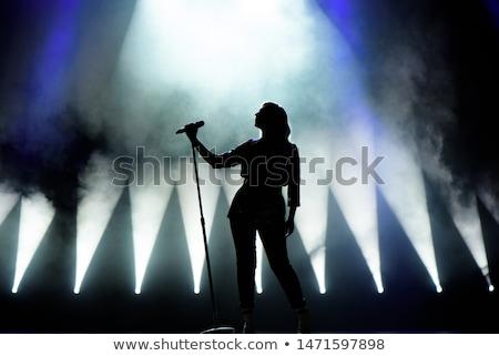 Nina cantante ilustración televisión micrófono Screen Foto stock © adrenalina