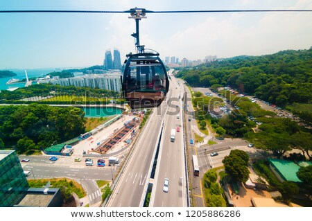 Kablo araba Singapur siyah tepe nakliye Stok fotoğraf © dutourdumonde