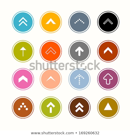 Arrow Up Right flat black color rounded vector icon Stock photo © ahasoft