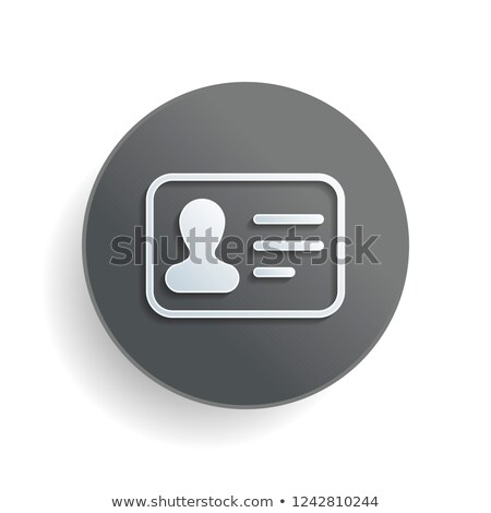 Personal Access Icon. Grey Button Design. Stock photo © WaD