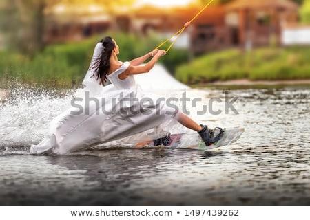 женщину необычный платье странно странный моде Сток-фото © racoolstudio