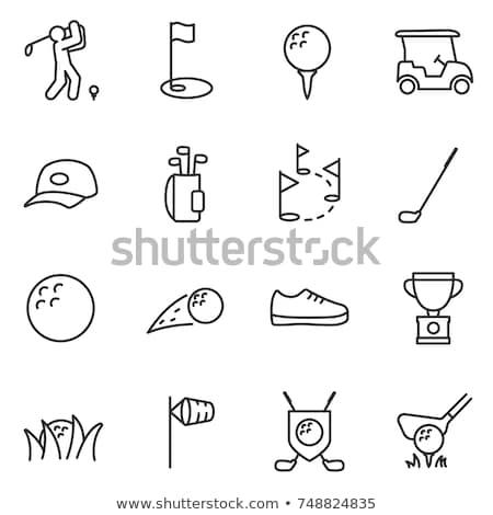 Stock photo: Golf Line Icons Set