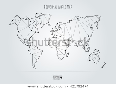Geométrico mapa do mundo vetor abstrato polígono terra Foto stock © beaubelle