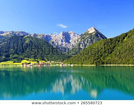 Tó Ausztria központi Európa égbolt sport Stock fotó © CaptureLight