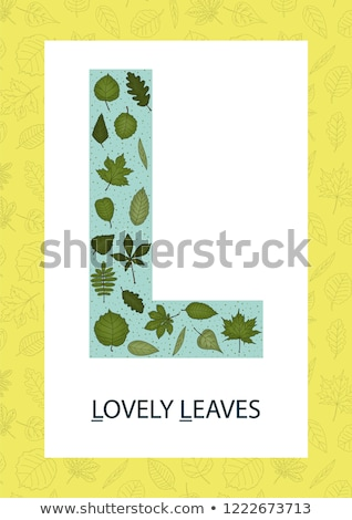 Flashcard letter L is for love Stock photo © bluering
