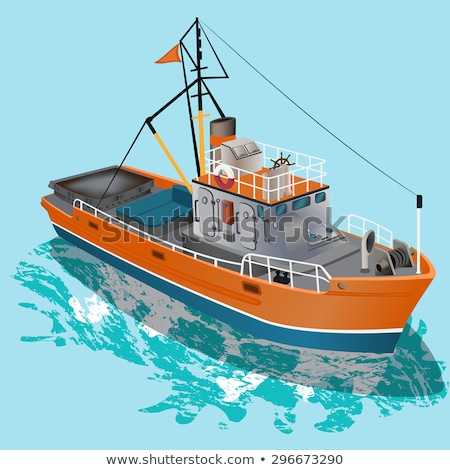 Fishing boat and other fishing equipments Stock photo © bluering