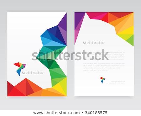 amarelo · baixo · negócio · modelo · vetor - foto stock © SArts
