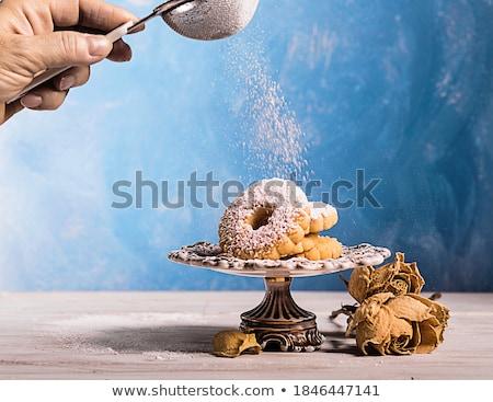 Bisküvi İtalyan vanilya İtalyan gıda beyaz arka plan Stok fotoğraf © Digifoodstock