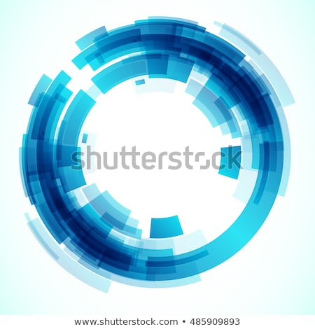 Bleu circulaire cadre mosaïque style Photo stock © SArts