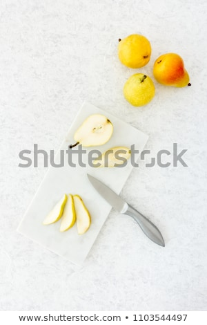 Szeletel körték érett fehér gyümölcs friss Stock fotó © Digifoodstock