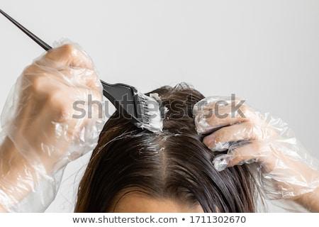 Young lady with a colorful coiffure Stock photo © konradbak