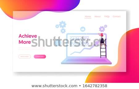 Atterraggio pagina laptop carriera scala display Foto d'archivio © tashatuvango