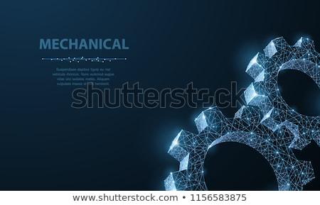 metal gears background technic concept stock photo © janpietruszka