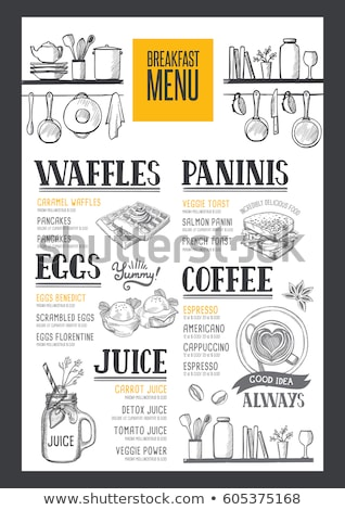 menu for breakfast stock photo © fisher
