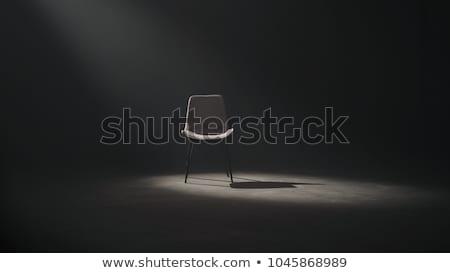 Reflektor szék üres piros sötét fény Stock fotó © make