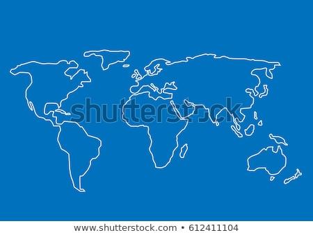 wereldkaart · hand · kaart · licht · kamer - stockfoto © cienpies