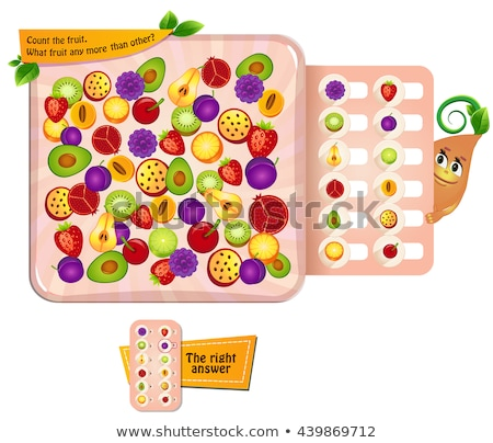 count the fruit visual game stock photo © olena