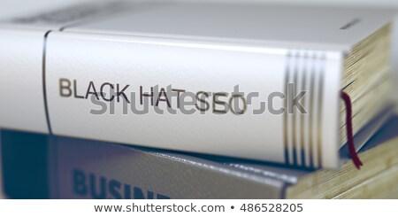 Könyv cím fekete kalap seo 3D Stock fotó © tashatuvango