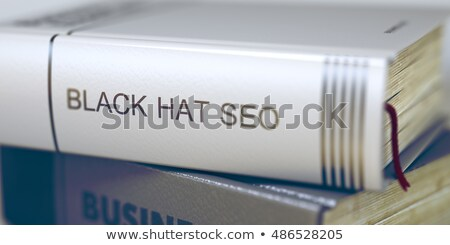 Libro título negro sombrero seo 3D Foto stock © tashatuvango