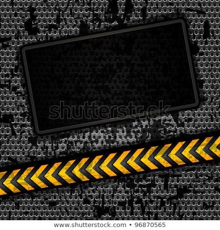 bande · main · noir · jaune · bande · plastique - photo stock © njnightsky