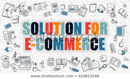 E-Commerce Optimization in Multicolor. Doodle Design. Stock photo © tashatuvango