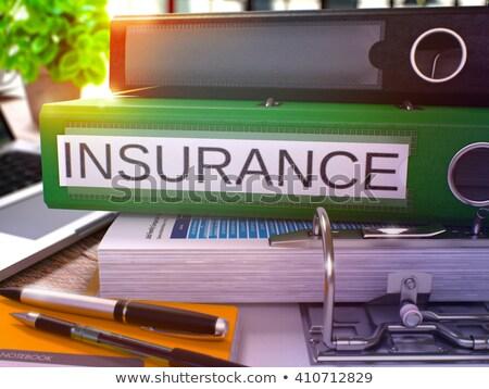 Seguro verde escritório dobrador imagem trabalhando Foto stock © tashatuvango