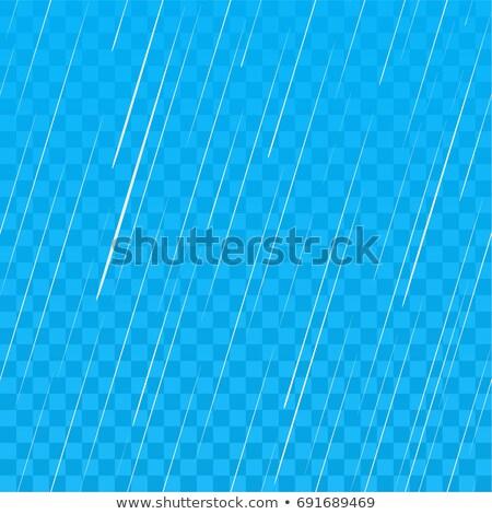 Pesado lluvia azul transparente sin costura cielo Foto stock © orensila