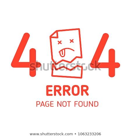 404 hiba ikon piros szimbólum gomb Stock fotó © Oakozhan