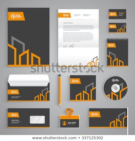 Streszczenie szary działalności materiały biurowe szablon kolekcja Zdjęcia stock © SArts