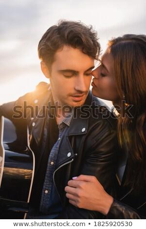 mature man kisses mature woman. Stock photo © IS2