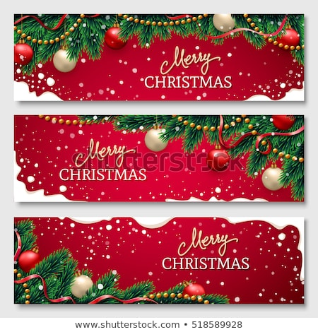 merry christmas banners set vector illustration stock photo © robuart
