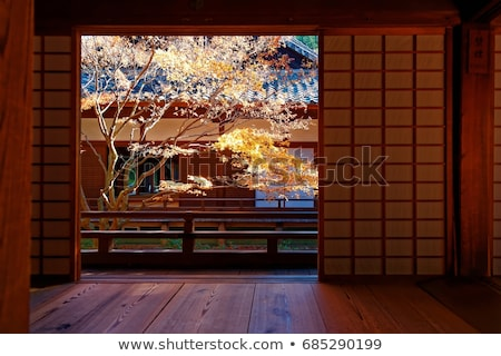 Temple jardin kyoto Japon bois bâtiment Photo stock © daboost