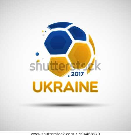 soccer ball on Ukrainian flag Stock photo © ssuaphoto