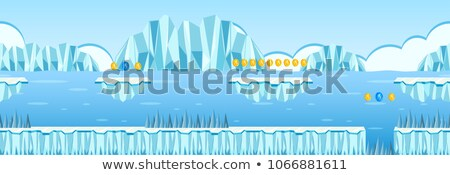 Moneta raccolta gioco iceberg scena illustrazione Foto d'archivio © bluering