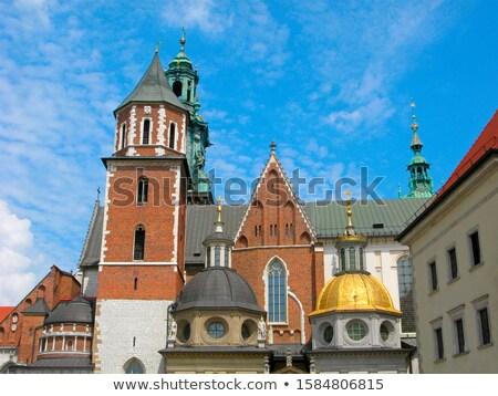 Stock fotó: Katedrális · kastély · kilátás · Krakkó · Lengyelország · égbolt