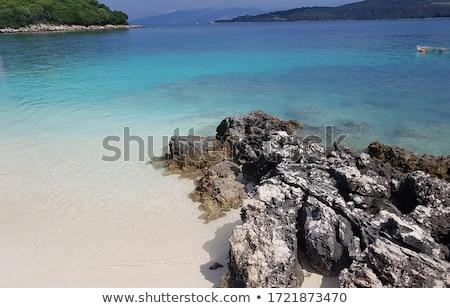 ionian sea coast of southern albania on sunny day Stock photo © travelphotography