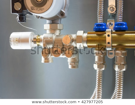 Main Control manifold of floor heating system Stock photo © fresh_7135215
