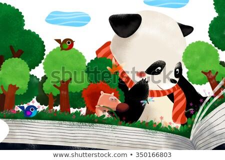 Child story time scene Stock photo © bluering