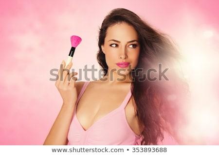 Brunetka piękna kobiecy makijaż studio portret Zdjęcia stock © lithian