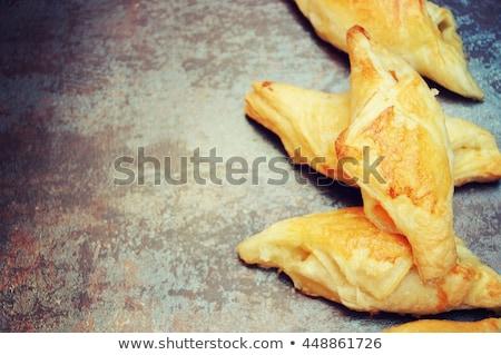 Sandwich croissant geitenkaas vers aardbeien honing Stockfoto © Melnyk