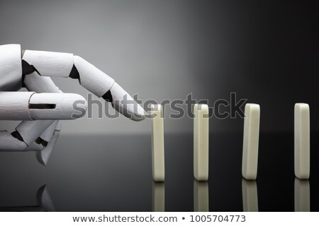 Risco inteligência artificial zangado cyborg futuro tecnologia Foto stock © Lightsource
