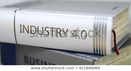 Book Title on the Spine - Industrial Engineering. 3d. Stock photo © tashatuvango