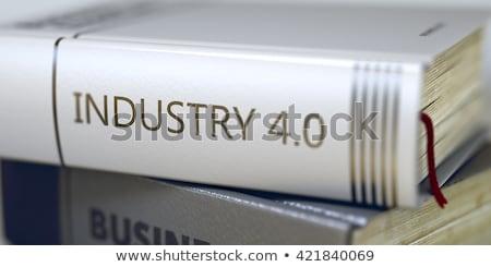 könyv · cím · gerincoszlop · ipar · 40 · 3d · illusztráció - stock fotó © tashatuvango