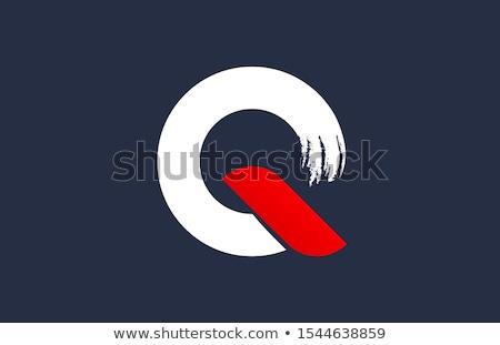 手紙 ロゴ 赤 青 アイコン ベクトル ストックフォト © blaskorizov