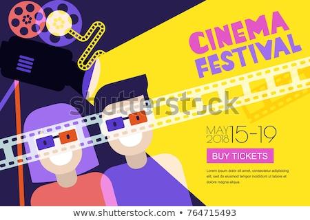 ilustração · filme · pipoca · óculos · filmes · beber - foto stock © jossdiim