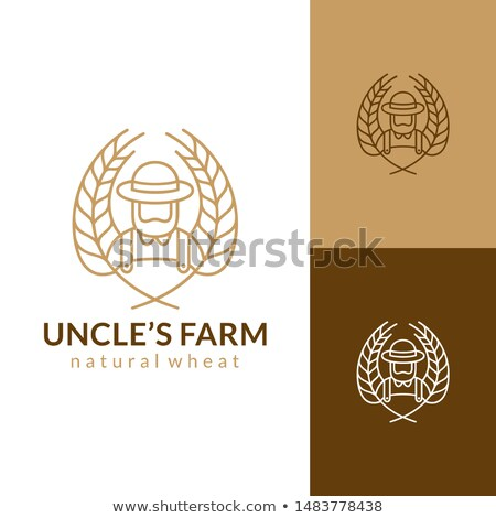 пшеницы зерна фермер борода талисман икона Сток-фото © patrimonio