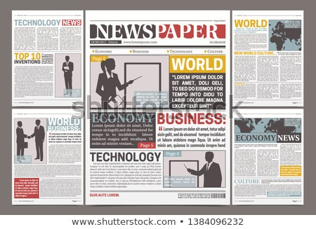 Newspaper Vector. Daily Journal Design. Financial News Articles, Advertising Business Information. I Stock photo © pikepicture