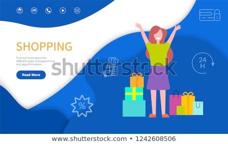 Alışveriş programlama vektör bulmak dışarı Stok fotoğraf © robuart