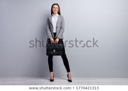 Atrakcyjny kobieta interesu teczki Zdjęcia stock © feedough
